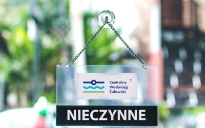 Centralny Wodociąg Żuławski nieczynny 12.06.2020 r.