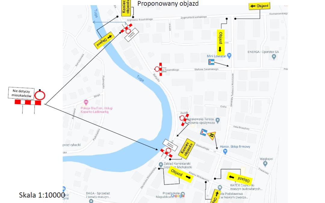 Utrudnienia w ruchu w Nowym Dworze Gdańskim w związku z pracami remontowymi na ulicy Bałtyckiej